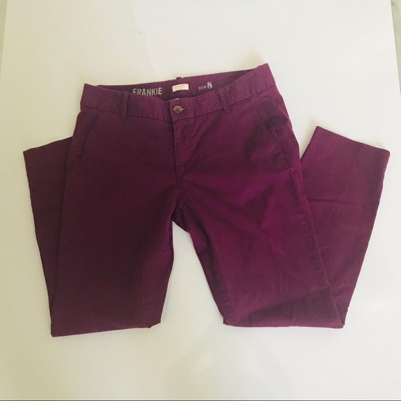 J. Crew Pants - J crew stretch Frankie purple pants